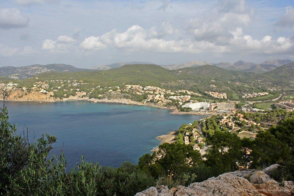 Wanderung auf Mallorca, Blick auf Camp de Mar