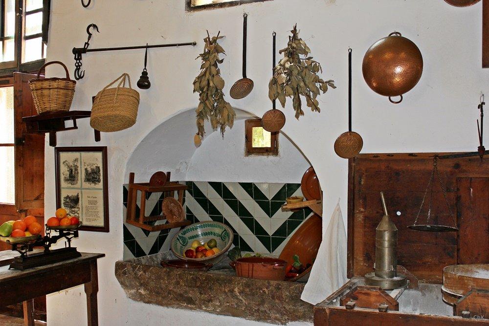Küche auf dem Landgut La Granja, Mallorca