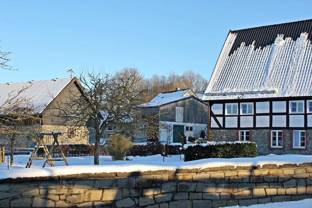 Wanderweg, A6, Altenhellefeld, Wacholderheide, Wandern, Schneewanderung