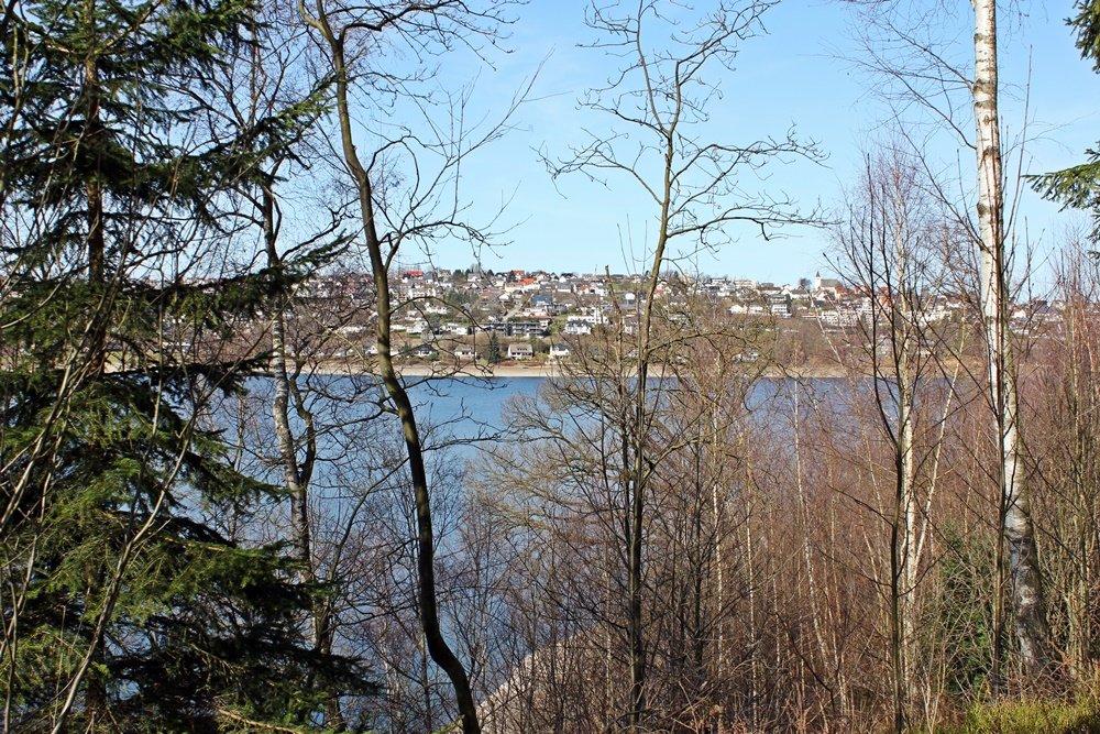 Rund um den Sorpesee, Radtour, Fahrradfahren, Sorpesee, Stemel, Urlaubshappen, Blick auf Langschei