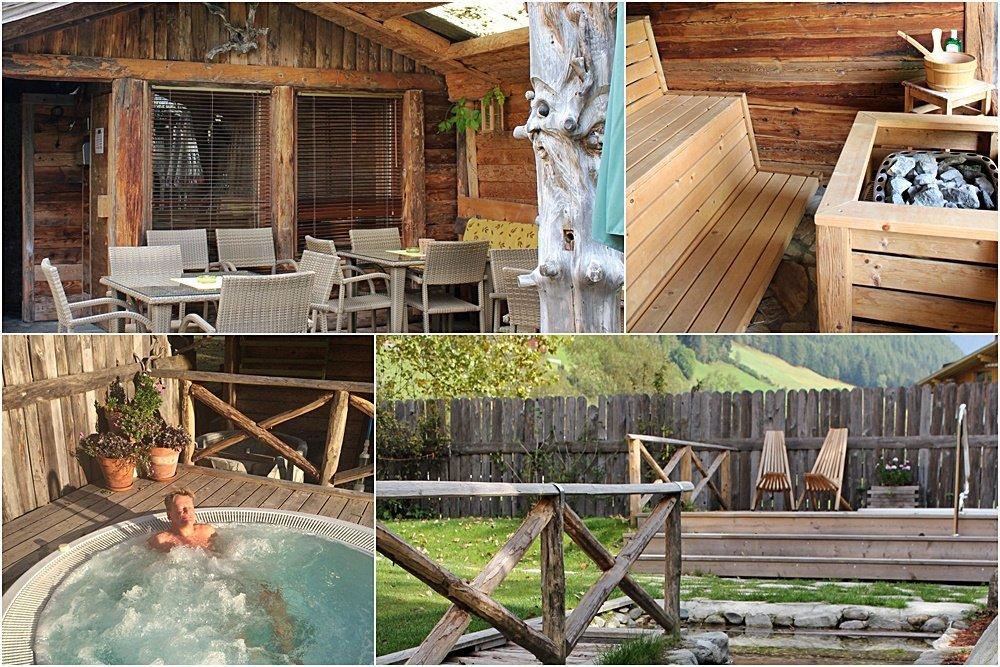 Ferienwohnung im Tauferer Ahrntal, Südtirol, Löfflerblick, Urlaub, Außensauna