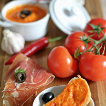 Tomaten Aioli Sauce, Parmaschinken, Tapas Abend, Büffet