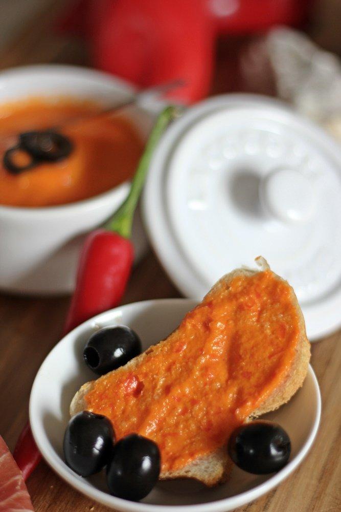 Tomaten Aioli Sauce, Parmaschinken, Tapas Abend