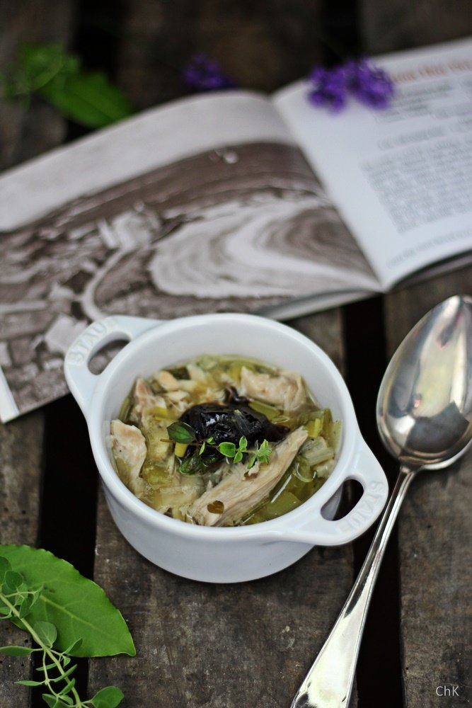 Cook-a-leekie-Soup, Edinburgh, Städtetrip, Rezept Hühnersuppe