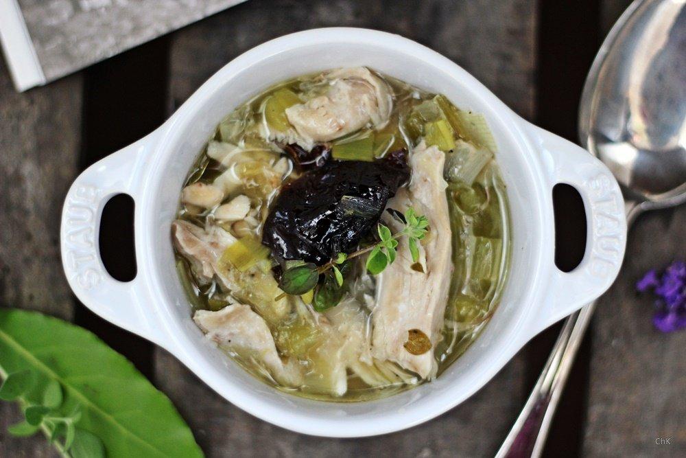 Cook-a-leekie-Soup, Edinburgh, Städtetrip, Hühnersuppe, Backpflaumen