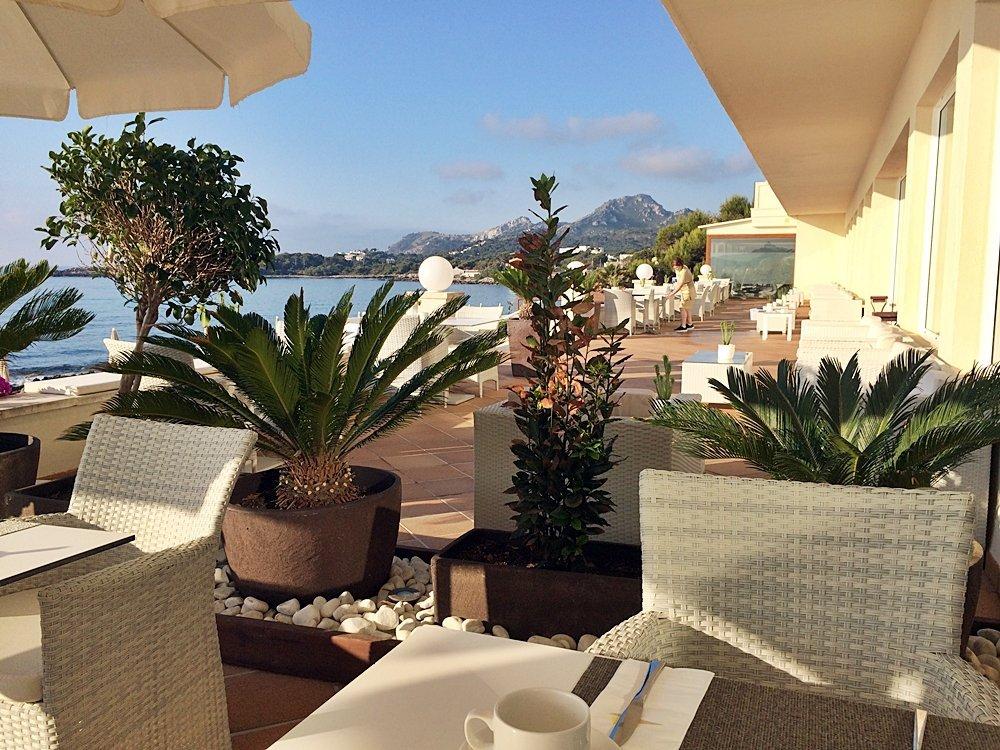 Frühstücksterrasse mit Blick auf Meer, Tui Sensimar Aguait, Hotel am Meer