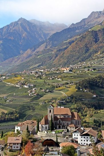 Törggelen, Schenna, Wandern, Südtirol, Blick Schenna