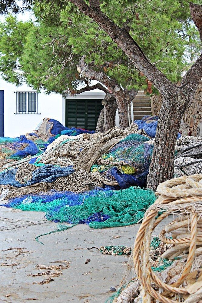 Mallorcas Ostküste, Cala Figuera, Fischernetze