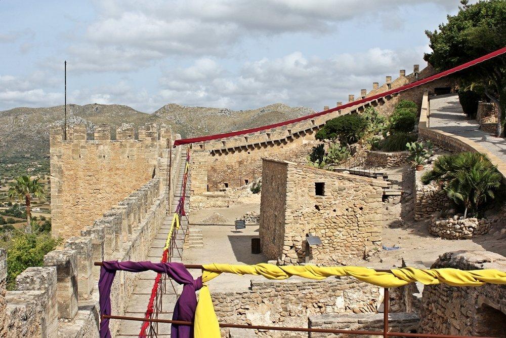 Mallorcas Ostküste, Castell de Capdepera, Festungsanlage. schönsten Orte Mallorcas