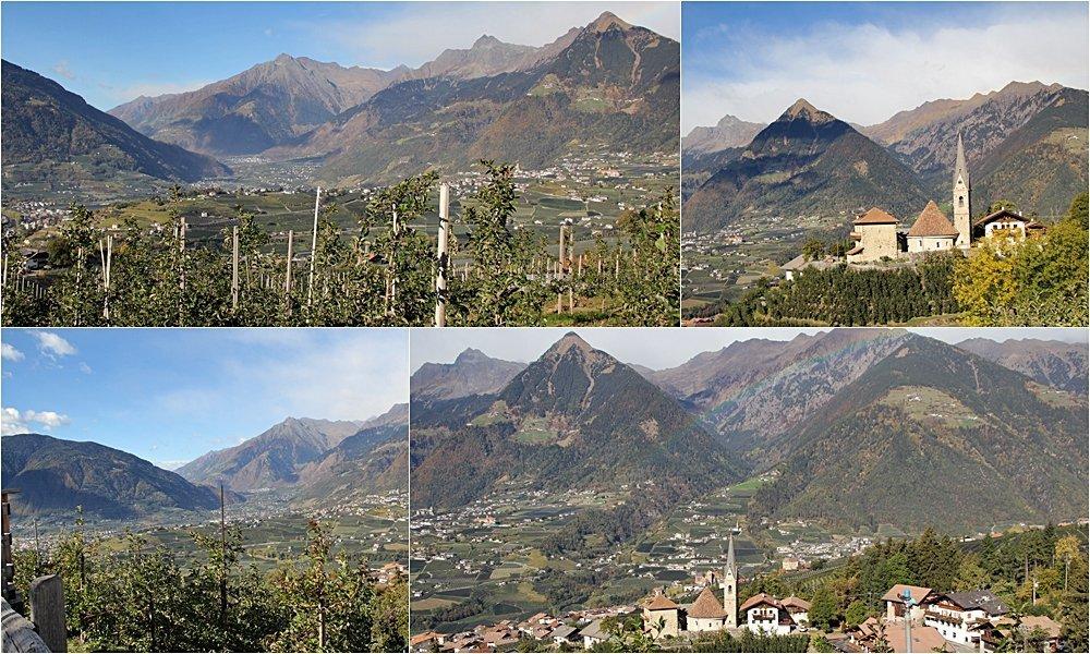Wandern, Törggelen, Schenna, Südtirol, Zuweg Schenner Waalweg