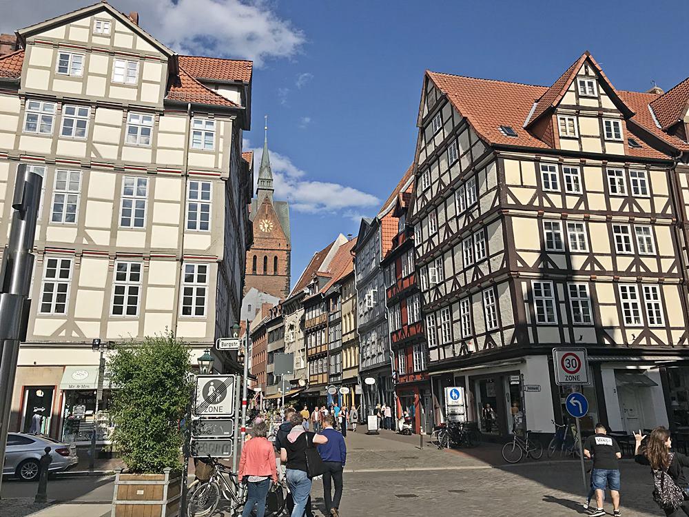 Altstadt, Fachwerk, Hannover, Niedersachsen, Der rote Faden