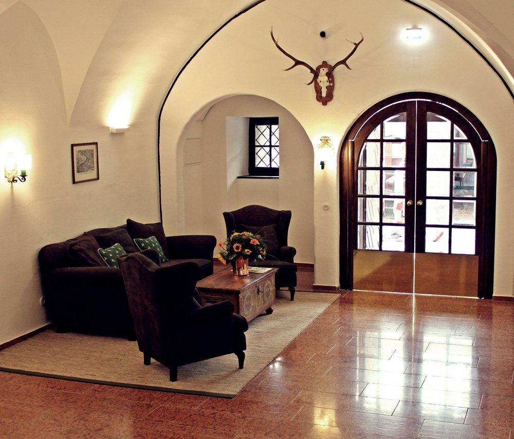 Eingangsbereich Goldener Hirsch Salzburg