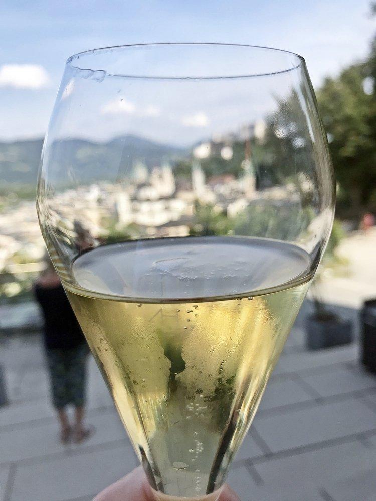 Aussicht vom Mönchsberg in Salzburg