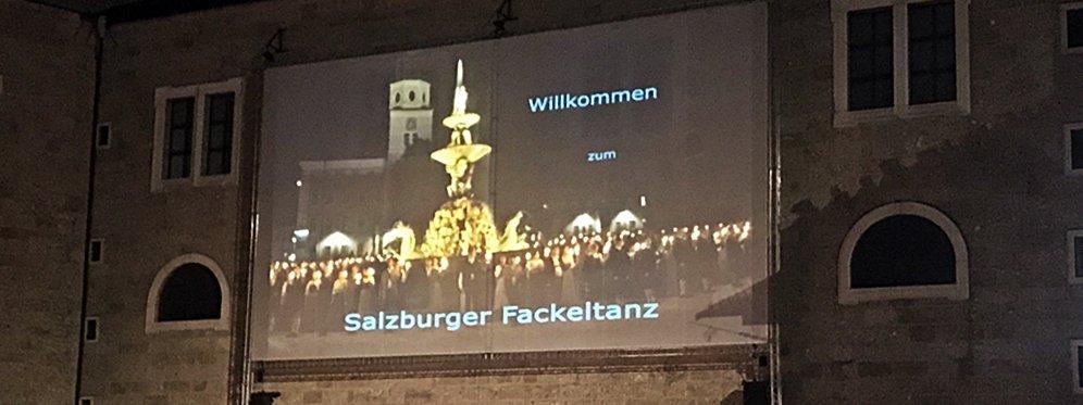 Festspiele in Salzburg, Fest der Festspieleröffnung, Fackeltanz