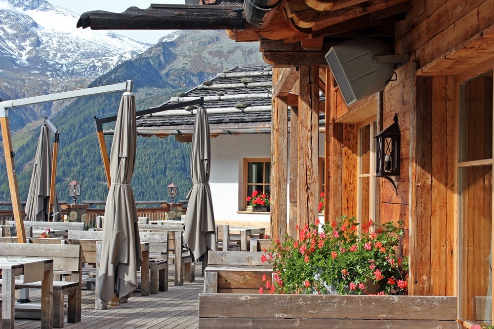 Terrasse Kristall-Alm, Wanderung zum Klaussee, Klausberg, urige Almhütte, Tauferer Ahrntal, Südtirol